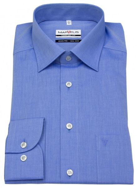 Marvelis Hemd - Comfort Fit - Chambray - blau - 7959 64 13