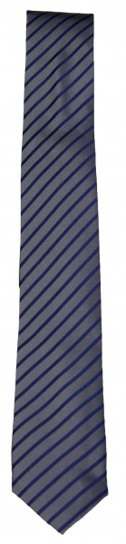 Venti Seidenkrawatte - Slim - blau / anthrazit gestreift - 001120 106