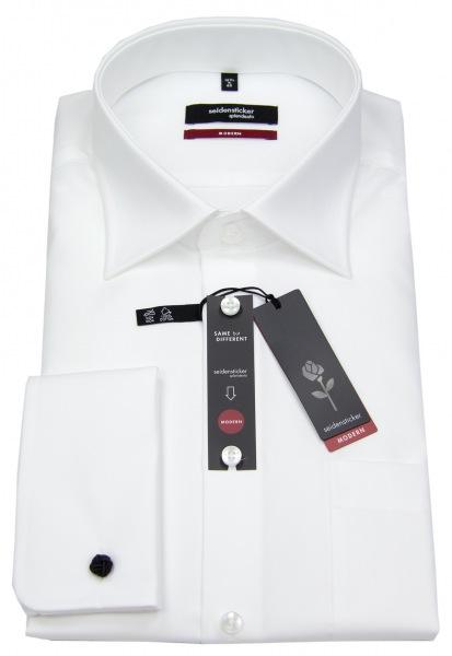 Seidensticker Hemd - Modern Fit - Umschlagmanschette - weiß - 001007 01