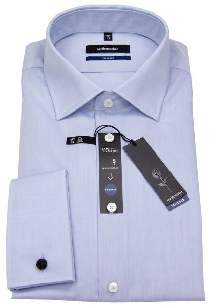 Seidensticker Hemd - Tailored Fit - Umschlagmanschette - hellblau - 021006 15