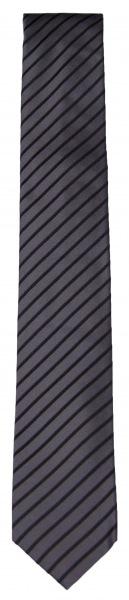 Venti Seidenkrawatte - Slim - schwarz / anthrazit gestreift - 001120 800