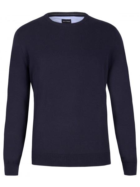 OLYMP Pullover - Rundhals-Ausschnitt - dunkelblau - 0160 11 14