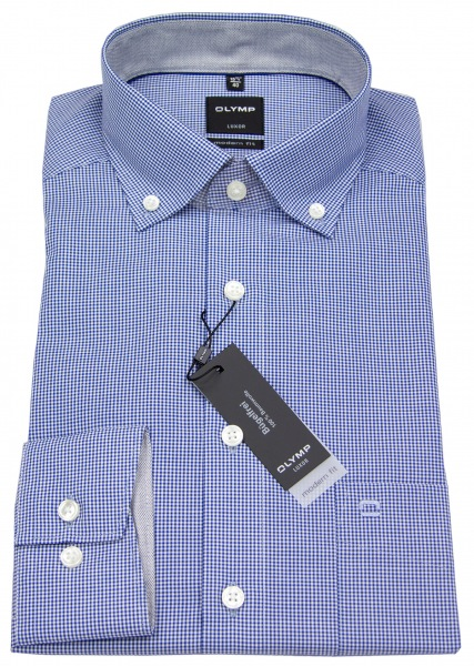 OLYMP Hemd - Luxor Modern Fit - Button Down - blau / weiß - 0512 64 19