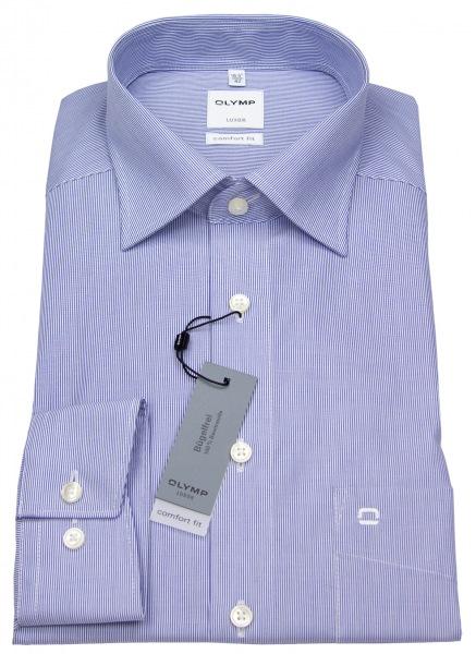 OLYMP Hemd - Luxor Comfort Fit - weiß / blau fein gestreift - 0272 64 15