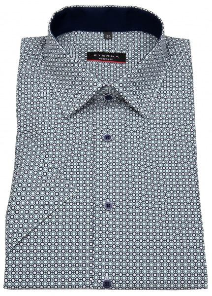 Eterna Kurzarmhemd - Modern Fit - Print - blau - 3787 C14P 18