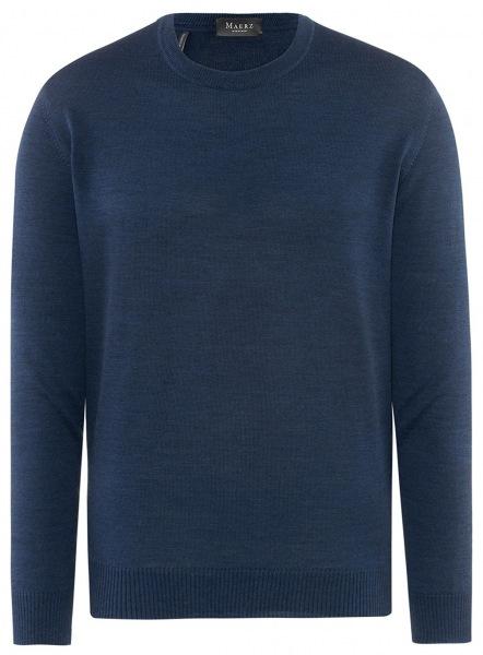 MAERZ Muenchen Pullover - Comfort Fit - Rundhals - blau - 490500 368
