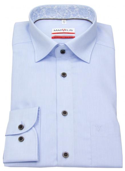 Marvelis Hemd - Modern Fit - Under Button Down - hellblau - 7209 24 10