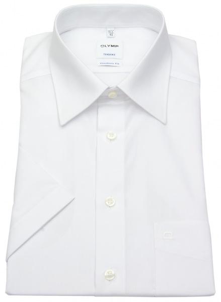 OLYMP Kurzarm Hemd - Tendenz Modern Fit - weiß - 0710 12 00
