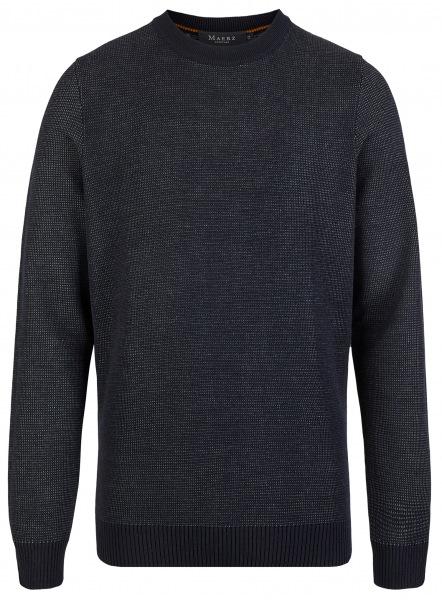 MAERZ Muenchen Pullover - Regular Fit - Rundhals - Navy - 457501 399