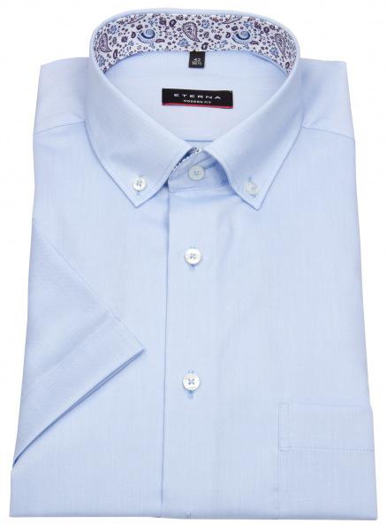 Eterna Kurzarmhemd - Modern Fit - Button Down - hellblau - 8102 C14U 10