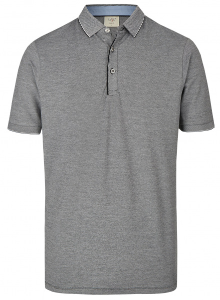 OLYMP Poloshirt - Level Five Body Fit - Piqué - schwarz / weiß - 5430 72 68