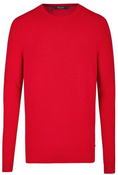 MAERZ Muenchen Pullover - Modern Fit - Rundhals-Ausschnitt - rot - 471000 449