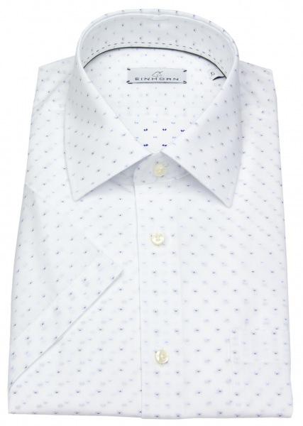 Einhorn Kurzarmhemd - Modern Fit - Print - weiß / blau - ohne OVP - 381745 1313 1