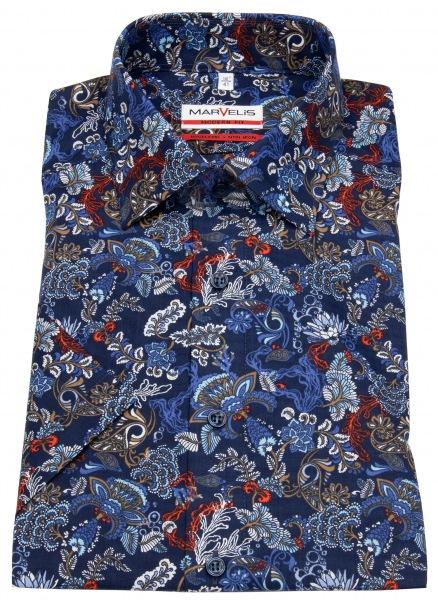 Marvelis Kurzarmhemd - Modern Fit - Print - mehrfarbig - 7203 32 18