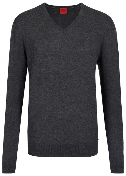 OLYMP Pullover - Level Five Body Fit - Merinowolle - anthrazit - 0151 10 67