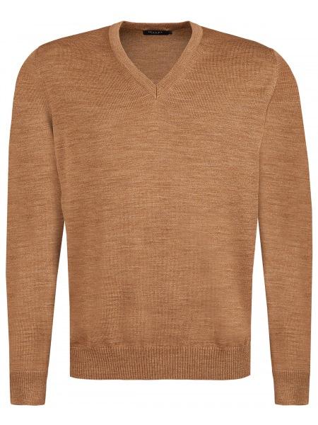MAERZ Muenchen Pullover - Comfort Fit - V-Ausschnitt - hellbraun - 490400 170
