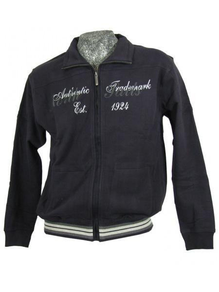 Casa Moda Sweat Jacke - blau - 411360300-14