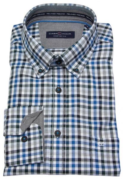 Casa Moda Hemd - Button Down Kragen - mehrfarbig kariert - 483016700 150