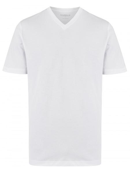 Marvelis T-Shirt Doppelpack - Modern Fit - V-Ausschnitt - weiß - 2817 00 00