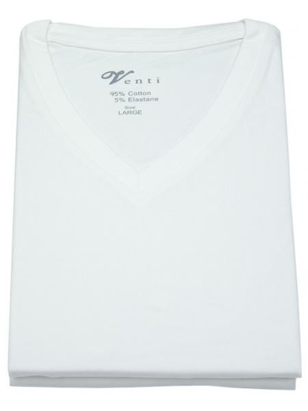 Venti T-Shirt Doppelpack - Modern Fit - V-Neck - weiß - 012600 001
