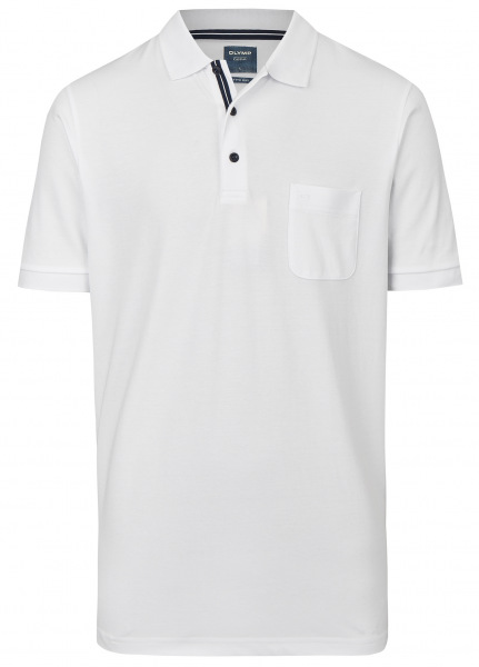 OLYMP Poloshirt - Casual Fit - Active Dry - weiß - 5410 52 00