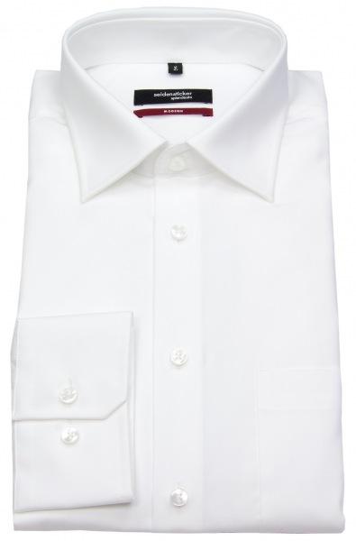 Seidensticker Hemd - Modern Fit - Fil-a-Fil - weiß - 003000 01