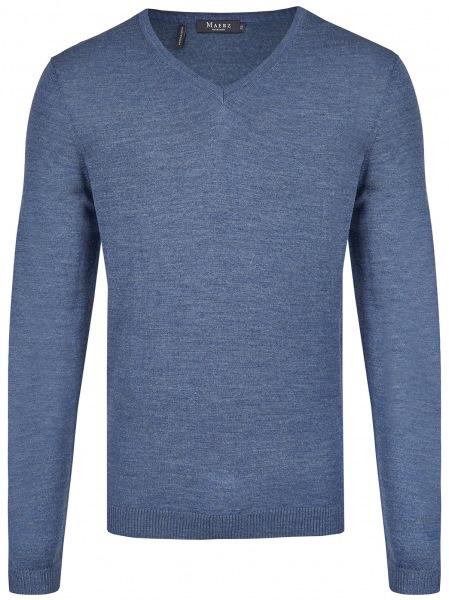 MAERZ Muenchen Pullover - Modern Fit - V-Ausschnitt - Nimes Blue - 403800 378