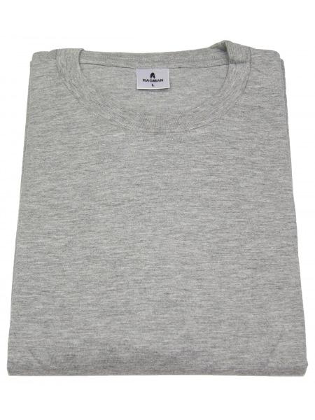 Ragman T-Shirt Doppelpack - Rundhals - grau - ohne OVP - 40000 012
