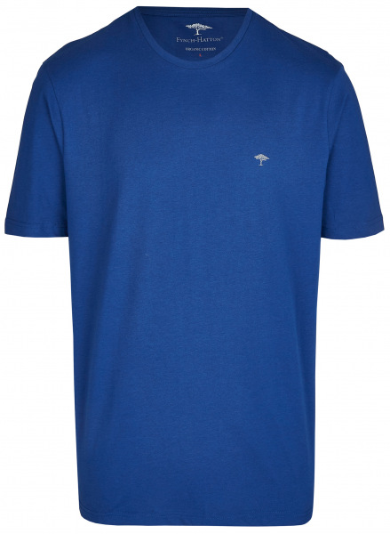 Fynch-Hatton T-Shirt - Casual Fit - Rundhals - blau - SNOS1500 672