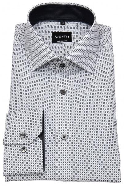 Venti Hemd - Modern Fit - Print - schwarz / weiß - 103412700 750