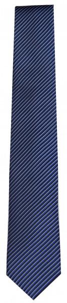 OLYMP Seidenkrawatte - Slim - blau / schwarz - fein gestreift - 6699 00 18