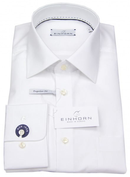 Einhorn Hemd - Comfort Fit - Derby - weiß - 823 11305 0001