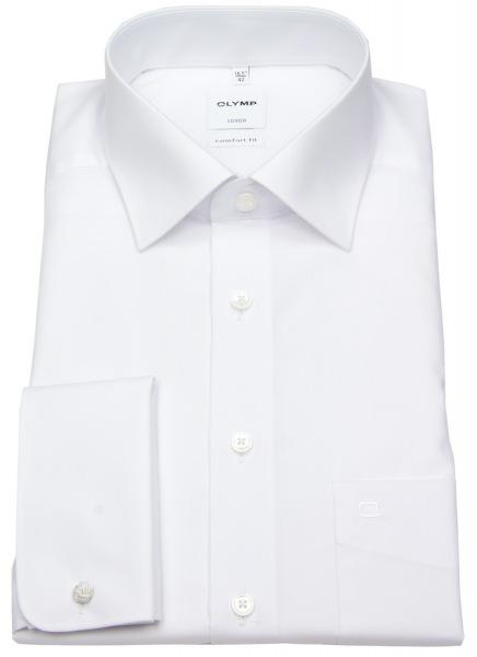 OLYMP Hemd - Luxor Comfort Fit - Umschlagmanschette - weiß - 0265 65 00