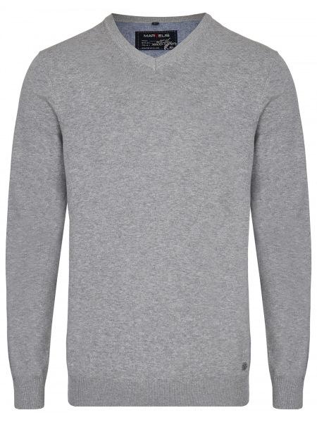 Marvelis Pullover - V-Ausschnitt - grau - 1990 10 60