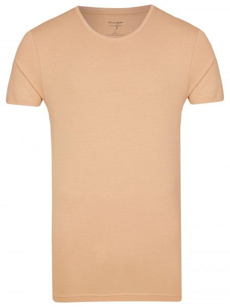 OLYMP Level Five Body Fit - T-Shirt - Rundhals-Ausschnitt - caramel - 0803 12 24