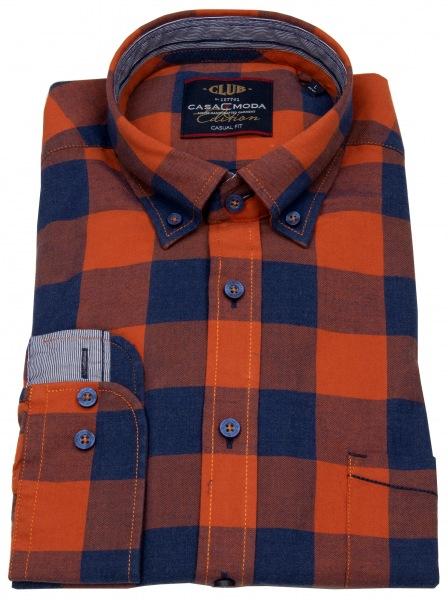 Casa Moda Hemd - Casual Fit - Button Down - mehrfarbig kariert - 472801400 450