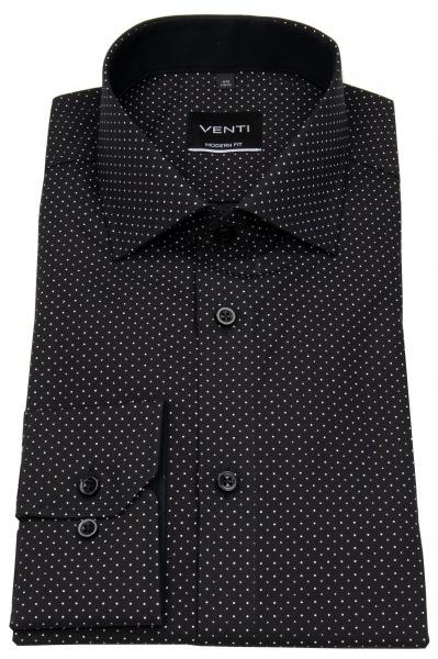 Venti Hemd - Modern Fit - Print - schwarz / weiß - 193157900 800