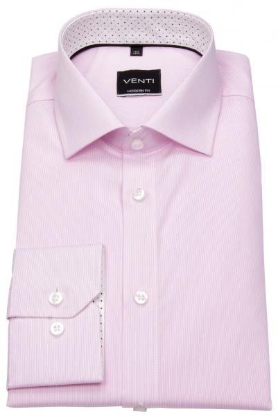 Venti Hemd - Modern Fit - feine Streifen - rosé / weiß - 193158200 401