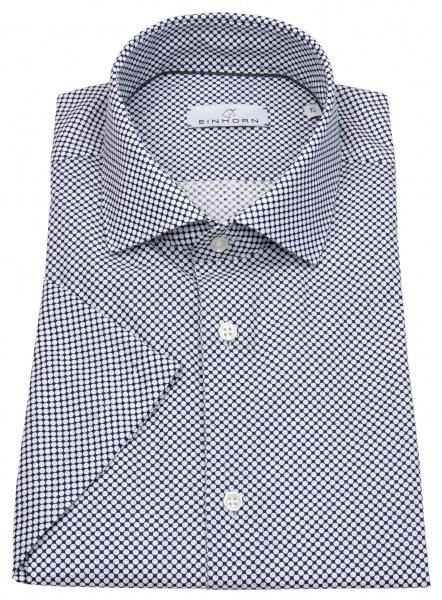 Einhorn Kurzarmhemd - Modern Fit - Leinen - Print - blau / weiß - 391715.1580 1