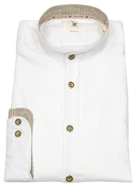 Pure Trachtenhemd - Slim Fit - Stehkragen - weiß - 5010-21601 901