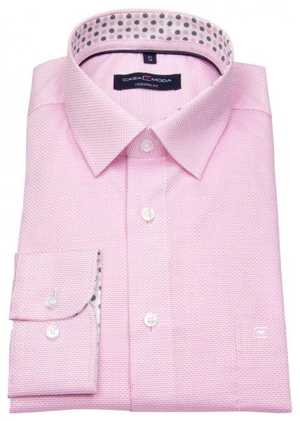 Casa Moda Hemd - Modern Fit - feiner Print - rosé - 393151800 400