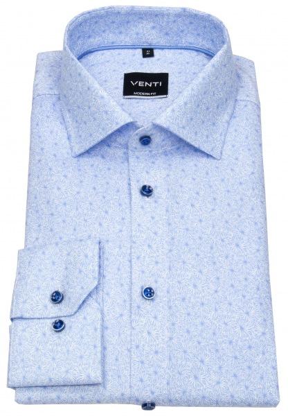 Venti Hemd - Modern Fit - Print - hellblau / weiß - 103413000 100