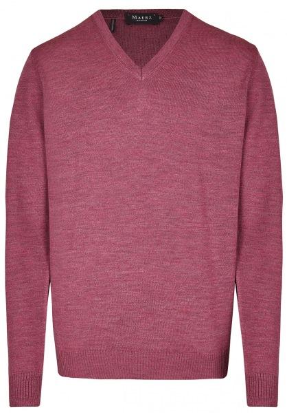 MAERZ Muenchen Pullover - Comfort Fit - V-Ausschnitt - Venice Pink - 490400 755