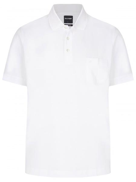 OLYMP Poloshirt - Modern Fit - Piqué - weiß - 1524 12 00