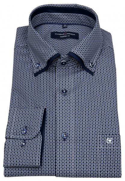 Casa Moda Hemd - Modern Fit - Button-Down - Print - dunkelblau - 303388000 100