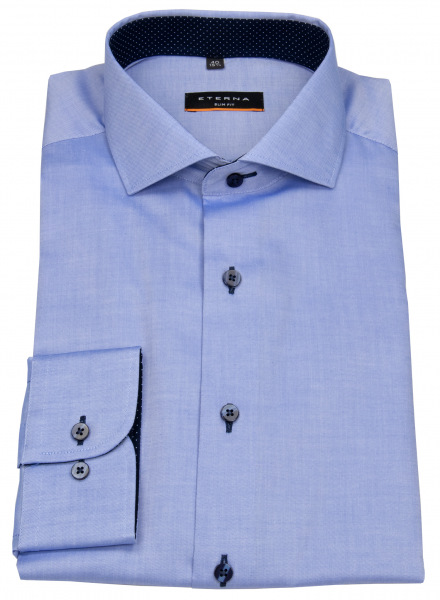 Eterna Hemd - Slim Fit - Oxford - Kontrastnähte - blau - 8100 F132 12