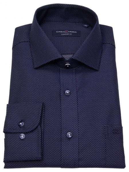 Casa Moda Hemd - Comfort Fit - Kentkragen - Print - blau / weiß - 383059900 100