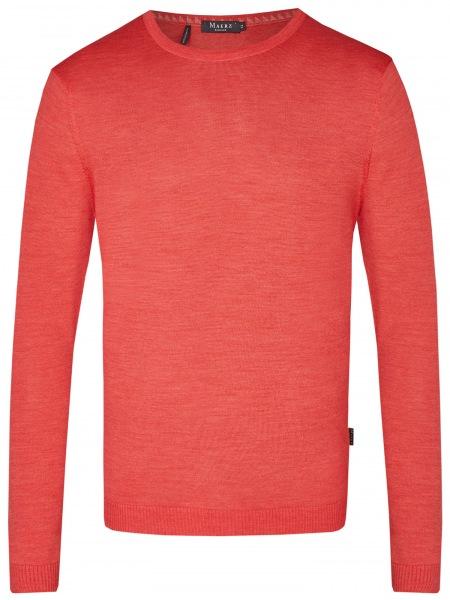 MAERZ Muenchen Pullover - Modern Fit - Rundhals-Ausschnitt - peaches - 401800 624
