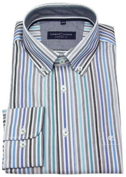 Casa Moda Hemd - Comfort Fit - Button Down Kragen - mehrfarbig gestreift - 493130800 300