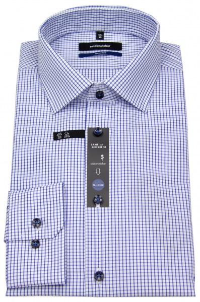 Seidensticker Hemd - Tailored Fit - Gitterkaro - blau / weiß - 01.228998 13